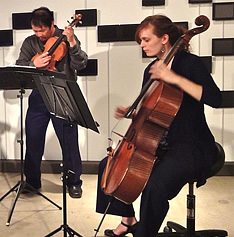 Members of Del Sol String Quartet